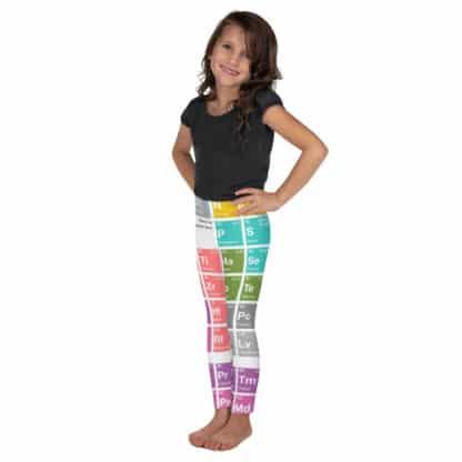 Periodic table leggings kids white