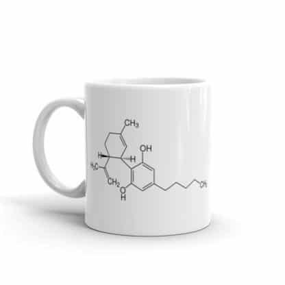 CBD molecule mug side