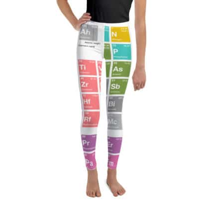 Periodic table leggings youth front