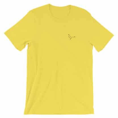 Serotonin molecule embroidered t-shirt yellow