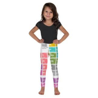 Periodic table leggings kids white front