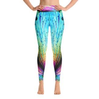 Dopamine rush yoga leggings front