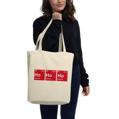 Ho-Ho-Ho organic tote bag model