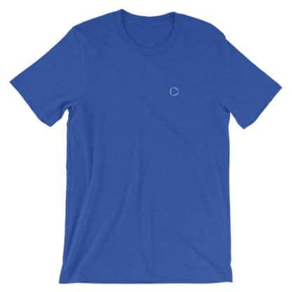 Benzene molecule t-shirt embroidered blue