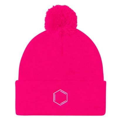 Benezene molecule beanie pink