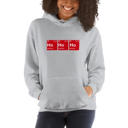 Ho Ho Ho hoodie grey