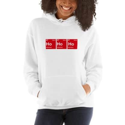 Ho Ho Ho hoodie white