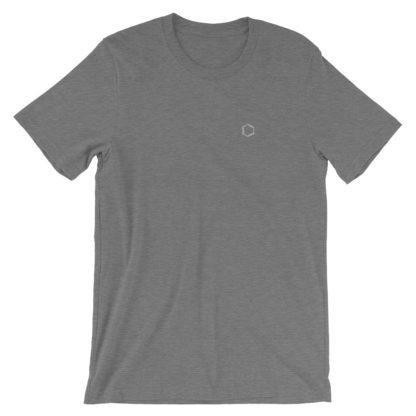 Benzene molecule t-shirt embroidered heather