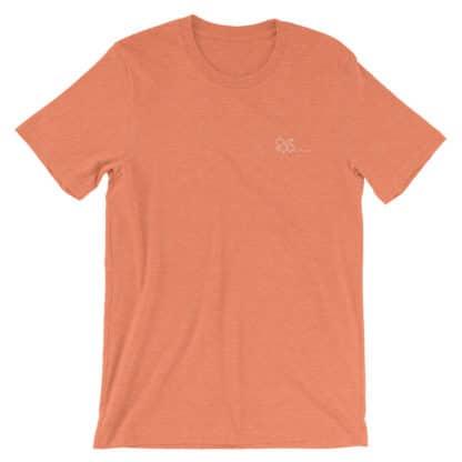 THC molecule t-shirt orange heather