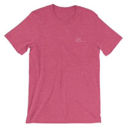 THC molecule t-shirt heather raspberry