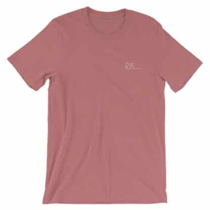 THC molecule t-shirt mauve
