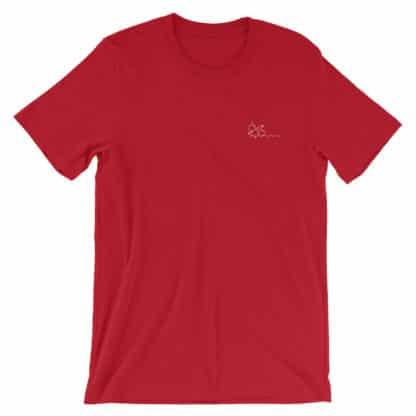 THC molecule t-shirt red