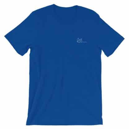 THC molecule t-shirt blue