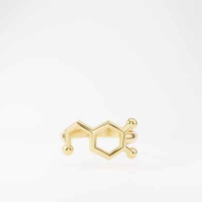 Dopamine Ring 14k Gold Front