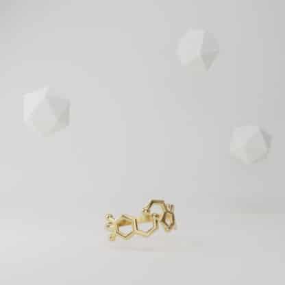 Serotonin and Dopamine Ring Gold Flying