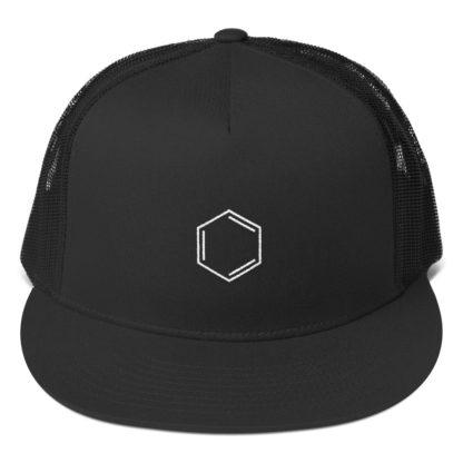Benzene molecule cap black