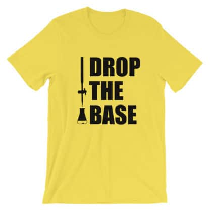 Drop the base t-shirt yellow