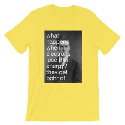 Bohr'd Electrons T-Shirt yellow