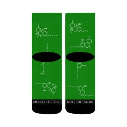 Cannabinoids Crew Socks back