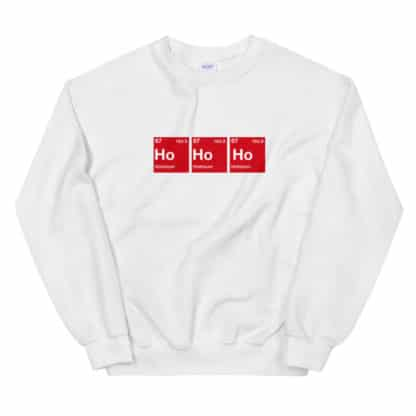 Ho Ho Ho Sweater white