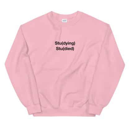 Stu(dying) Stu(died) Sweatshirt Unisex pink