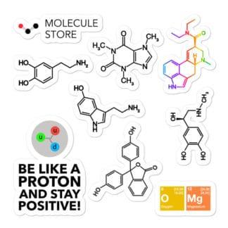 Molecule Stickers Kiss Cut