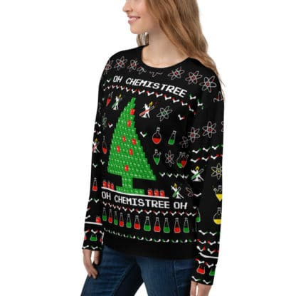 Chemistree ugly sweater girl side