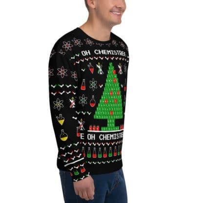 Chemistree ugly sweater black side 2