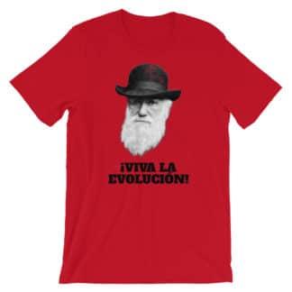 Darwin Viva la Evolution / Evolucion t-shirt red