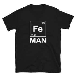 Iron (Fe) Man T-Shirt black