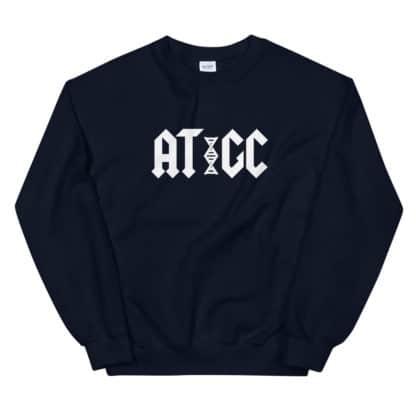 AT/GC DNA sweatshirt black